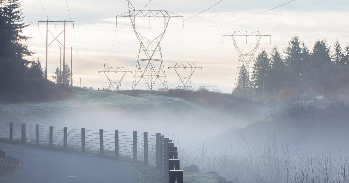 Winter Power Line Image