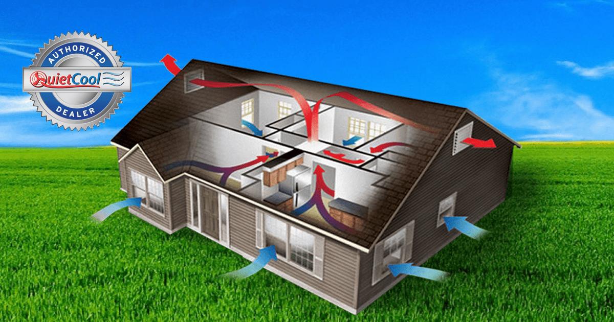 Whole House Ventilation : An attic air wholehouse fan cool down save big