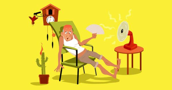 Attic Heat Build Up Cartoon