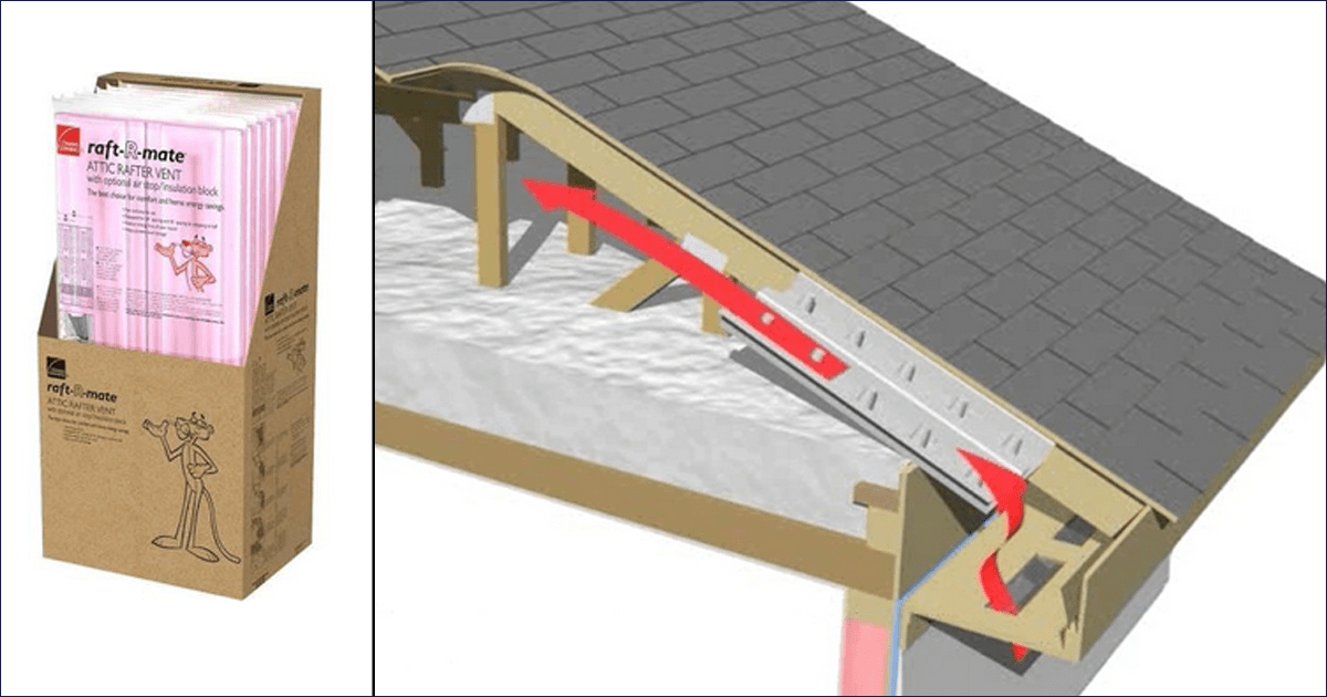 baffle image & Rafter Vents (baffles) - Why They Are Important | Chicago u0026 All Suburbs