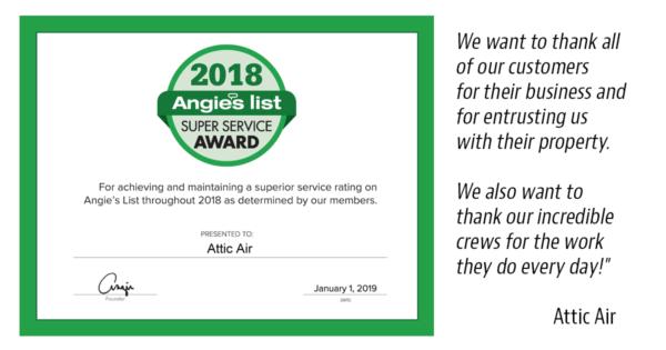 2018 Super Service Award Certificate Image
