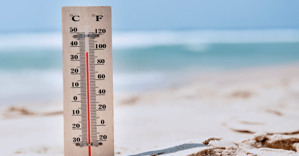 Hot Summer Temperatures In Chicago - Thermometer Image